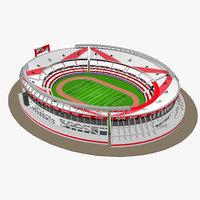 estadio monumental antonio vespucio 3D model