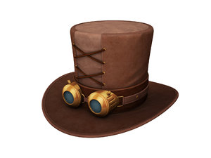 steampunk hat 3D