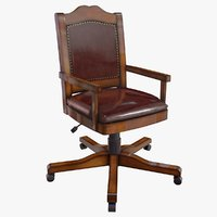 3D model realistic vintage chair