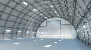 hangar warehouse building 3D model