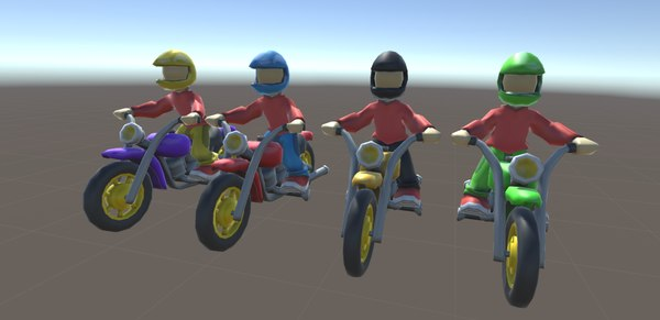 3D bikers motorcycle model