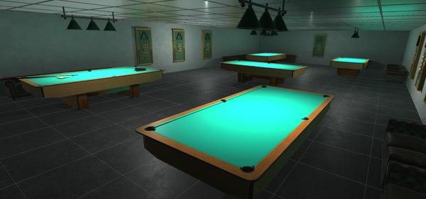 3D model games billiards