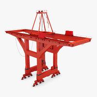 industrial goliath gantry crane 3D model