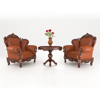 luxury leather armchair 3D