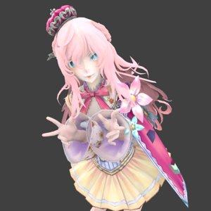 girl idol 3D model