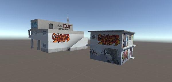 3D ghetto house model