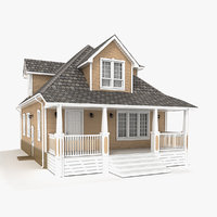 two-story cottage 78 3D model
