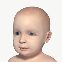 baby rigged 3D model