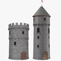 real castle towers model