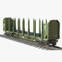 3D logging car green