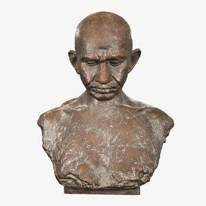 sculpture gandhi v p 3D model
