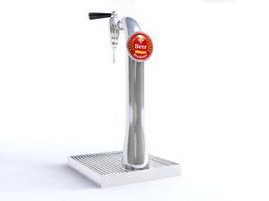 bar beer tap 3D model