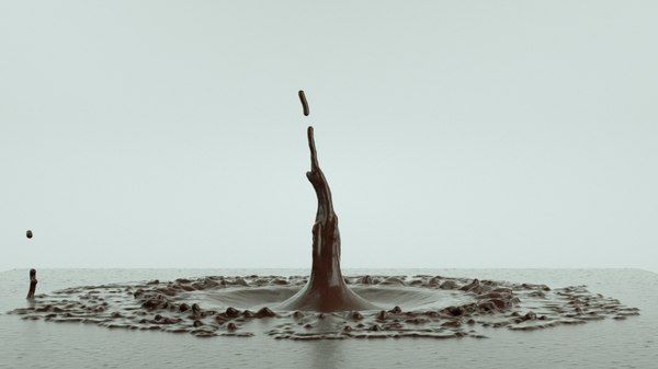 watersplash chocolatesplash alembic 3D model