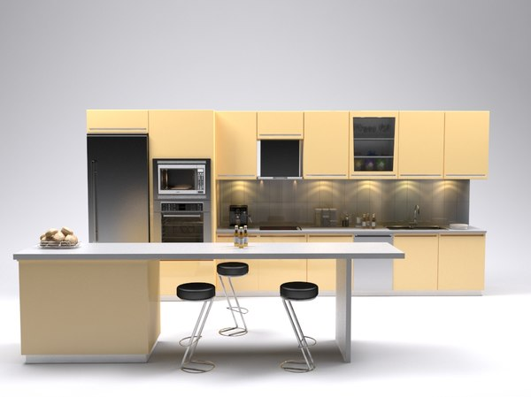 kitchen set 3D