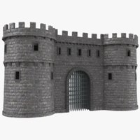 real castle gate 3D