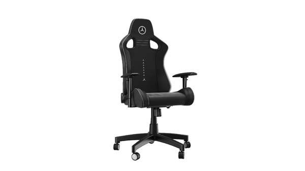 3D mercedes gamer chair blackblack model