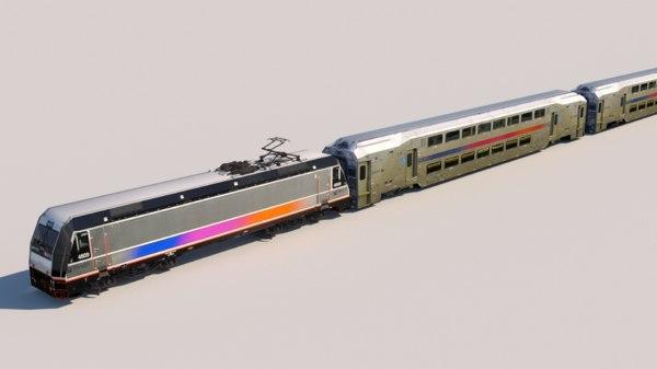 nj transit 3D model
