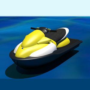 3D personal watercraft water model