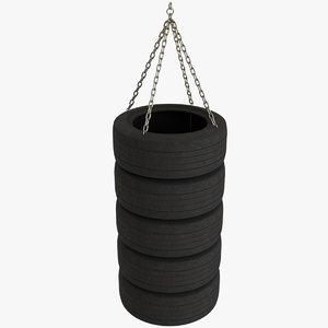 punching bag car tires 3D