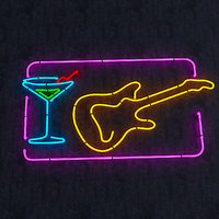 Guitar & Goblet Neon Sign