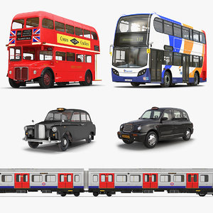 3D london public vehicles