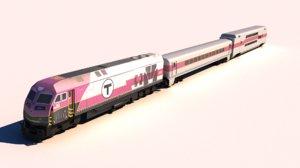 mbta train hsp46 3D