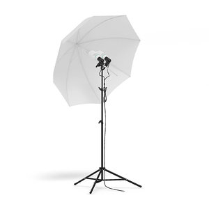 3D umbrella studio light