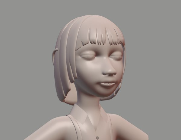 blender character boy mesh 3D model
