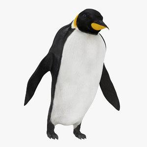 3D emperor penguin