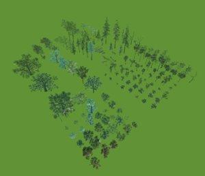 3D trees vr model