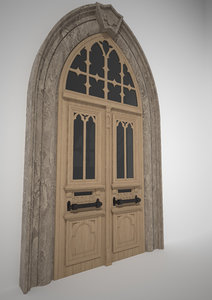 old wooden door 3D model
