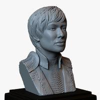 3D bust portrait cersei lannister model