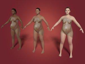 pregnant woman 3D model