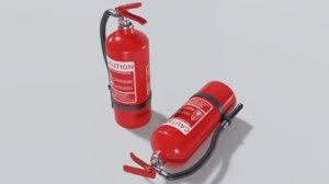 3D extinguisher modeled
