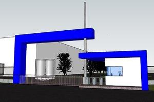 3D entrance gate model