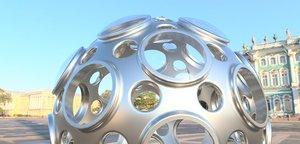 carbon 60 3D model