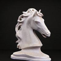 Classical horse head sculpture
