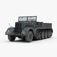 3D ww2 german sdkfz 9 model