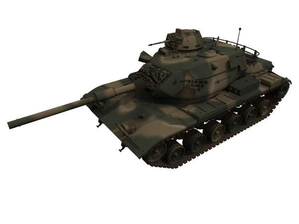 3D m60 tank america model
