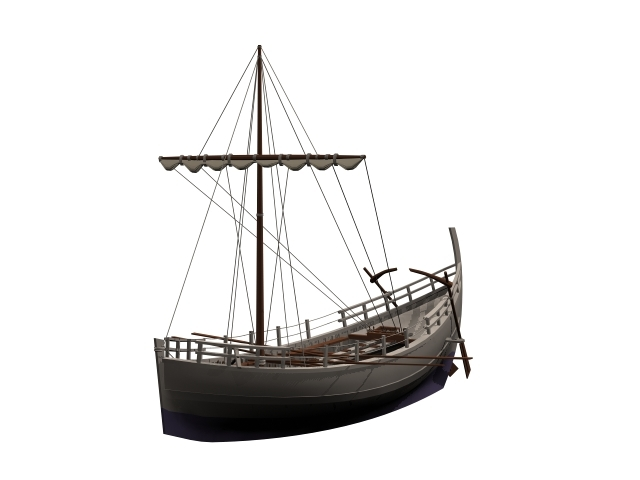 ancient greek ship 3D model