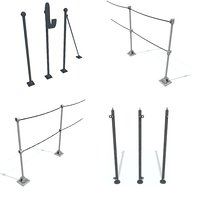 rail stanchion b c 3D model