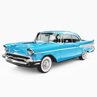 3D cadillac bel air 1957 model