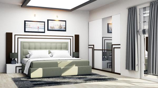 bed room bedroom 3D model
