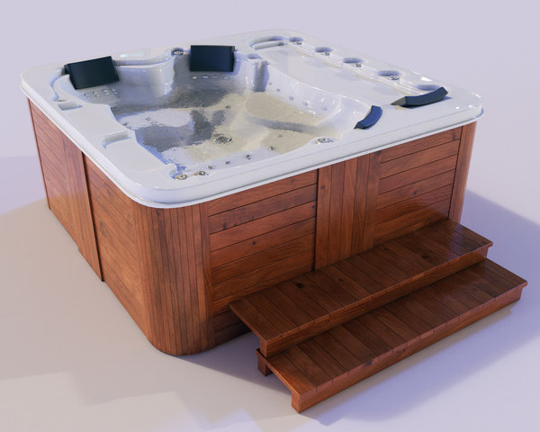 3D jacuzzi spa model