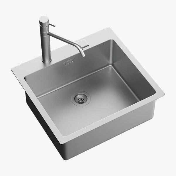 3D realistic sink mira mixer