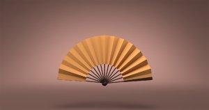 3D chinese fan