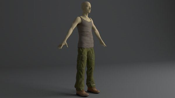3D model men clothing set