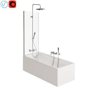 bathroom screen 3D model