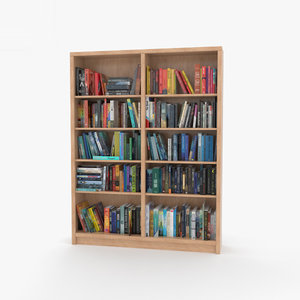 bookshelf books model