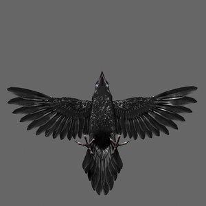 raven modeled 3D model